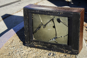 Smashed TV by Quinn Dombrowskion fl